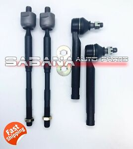 Tie Rod End Inner & Outer Set For Toyota Corolla 2009-2013 Matrix 2.4L