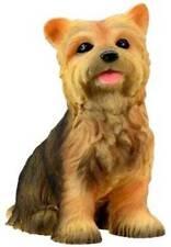 Yorkshire Terrier Puppy Dog Figurine 3 inch Yorkie Statue Resin Sitting Down