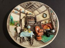 Vintage Chalkware/Plaster Wall Hanging Plate Character Creations Canada