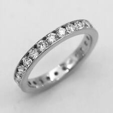 Full Eternity Wedding Band Round Lab Grown Certified Diamond 9kt White Gold