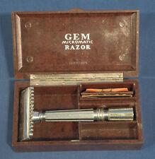 Vintage Antique Gem Micromatic Safety Razor in Original Bakelite Case
