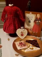 "Pleasant Company Kirsten School Dress & Shawl in Garment Bag ""KSO"" & Craft Book"