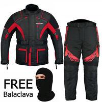 Motorbike Sublimation Suit Motorcycle Waterproof Cordura Red Long Jacket