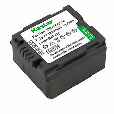 1x Kastar Battery for Panasonic VW-VBG130 AG-HMR10 AG-HSC1U DMC-L10 HDC-DX1 DX3