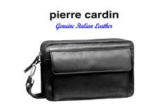 PIERRE CARDIN ITALIAN LEATHER ORGANISER BAG – PC8865 - COLOUR BLACK