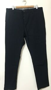 Brave by Wayne Cooper Black Chino Cotton Pant Trousers Straight Cut Size 36