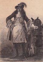 Gravure XIXe François de Bourbon-Vendôme 2e duc de Beaufort Roi des Halles