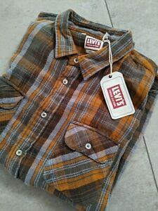 LVC - Levis Vintage Clothing Shorthorn Flannel Shirt L (XL) - Made in Italy