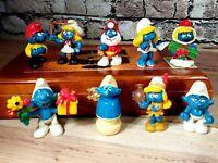 Vintage Original Smurf PVC Figure Toy Lot 1978-1983 Schleich Peyo Hong Kong