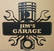My Garage Rustic Retro Vintage Metal Tin Sign Man Cave, Shed & Bar Sign