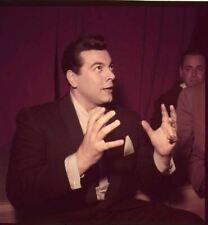 Mario Lanza Vintage Candid 1950's Couleur Original 2.25 x 2.25 Transparence