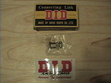 DID 420DS BLACK HEAVY DUTY CHAIN CONNECTING LINK CLIP HORSESHOE RJ NEW 420 DS
