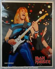 Dave Murray 8x10 Lithograph w Bio Iron Maiden