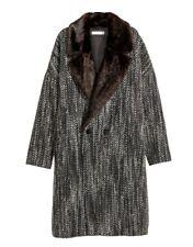 H&M Damenmantel Hebst Wintermantel Wollmantel Jacke Wollmischung  Gr. 40 grau