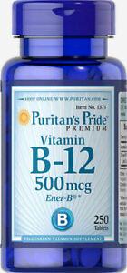 Puritan's Pride Vitamin B-12 500 mcg - 250 Tablets
