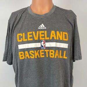Adidas Cleveland Cavaliers Aero Knit Shooting Shirt NBA Basketball Grey Size XL