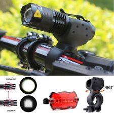 3-IN-1 LED Fahrradlampen Set Vorderlicht Rücklicht Fahrrad Beleuchtung TOP *NEU*