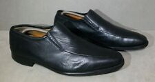 Men's MAGNANNI Black Leather Apron Toe Penny Loafers Size US 10.5 Black