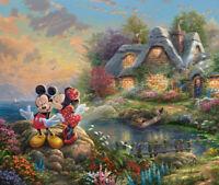 DISNEY'S HOLIDAYS, MICKEY AND MINNIE – SWEETHEART COVE  Cross Stitch Pattern