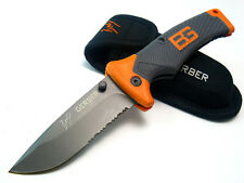 Bear Grylls serrated lockback FOLDING SHEATH KNIFE by GERBER