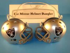 OAKLAND RAIDERS CAR MIRROR NFL FOOTBALL HELMET DANGLER - HANG FROM ANYTHING!