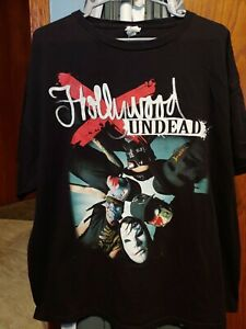 Vintage Hollywood Undead T Shirt Size XXL Band Tee
