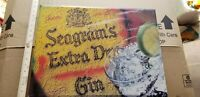VINTAGE Seagrams Extra Dry Gin Advertising Bar SIGN A