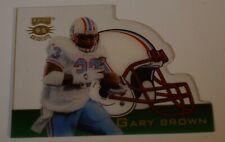 1995 Playoff Absolute GARY BROWN Die-Cut Helmet Football Card #24