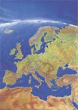 Poster Panoramakarte Europa Hochformat 97x137cm #010112