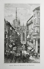 1890 ITALIEN VON WOLDEMAR KADEN=Veduta.Xilogr.CORSO VITTORIO EMANUELE A MILANO.
