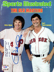 Pete Rose Autographed Signed Sports Illustrated Magazine Phillies PSA/DNA X62936