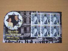 KIRIBATI, QE11 DIAMOND WEDDING 2007,75C SHEETLET OF 6,CAT £10.50.