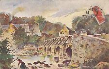 CL04.Vintage Postcard.The Bridge at Saint Cineri.Le Mans. France. Signed