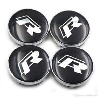 4x  60mm R Line noir argent jantes couvercle alumoyeux capuchon roue enjoliveur
