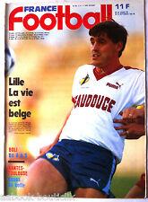 FRANCE FOOTBALL du 23/09/1986; Lille, Desmet/ Boli/ Nantes-Toulouse/ Toulon