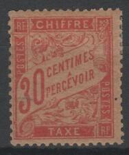 "FRANCE STAMP TIMBRE TAXE 34 "" 30c ROUGE-ORANGE "" NEUF x TTB , RARE  K934"