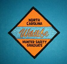 North Carolina Wildlife Hunter Safety Graduate Outdoor Jacket Patch Crest Badge