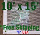 10' x 15' Clear Poly Tarp Room Divider Patio Porch Enclosure Fumigation Curtain