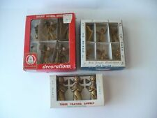 VINTAGE CHRISTMAS PLASTIC ANGELS IN BOXES
