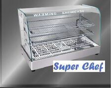 New! Heated Food Display Warmer Cabinet Case 3 FT S/S
