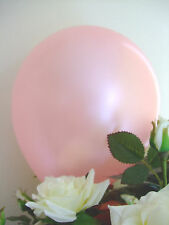 "50 PALE PINK BALLOONS 12"" QUALITY Biodegradable LATEX Baby Light Helium Air"