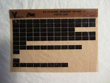 1983 Yamaha Motorcycle XV 920 MK Midnight Virago Microfiche Part Catalog XV920MK