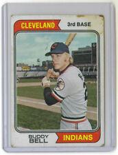 1974 Topps Regular - David Gus Bell - Cleveland Indians - 257 - Fair