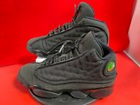Nike Air Jordan 13 XIII Retro BG Black Cat 884129-011 Size 7Y  USED