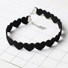 Charm Heart Chain Adjustable Punk Bib Tattoo Choker Collar Jewelry Necklace