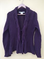Studio M Brown Cardigan Top Jumper Platted Collar Size M/12 <H120