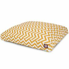 New listing Yellow Chevron Large Rectangle Indoor Outdoor Pet Dog Bed With Removable Wash.