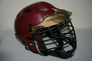 Cascade CLH2 SPR Fit Lacrosse Helmet Cage Size AMB S Small Maroon Red Gold Black