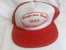VINTAGE SNAP ON TOOLS TRUCKERS HAT CAP 1988 VALLEY TOOL SHOW RED SNAPBACK VTG