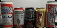 LOT 5  CANS BUDWEISER BEER 473 CC AND 355 CC   FROM ARGENTINA  AND PARAGUAY